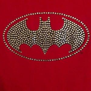 Red, Black, and Bling!! Batman 🦇 tshirt!